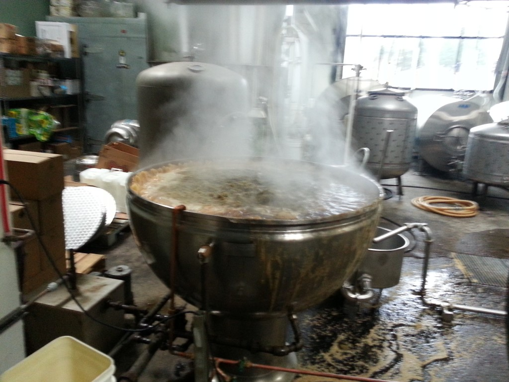 Mash tun brewing Fred at Hair of the Dog