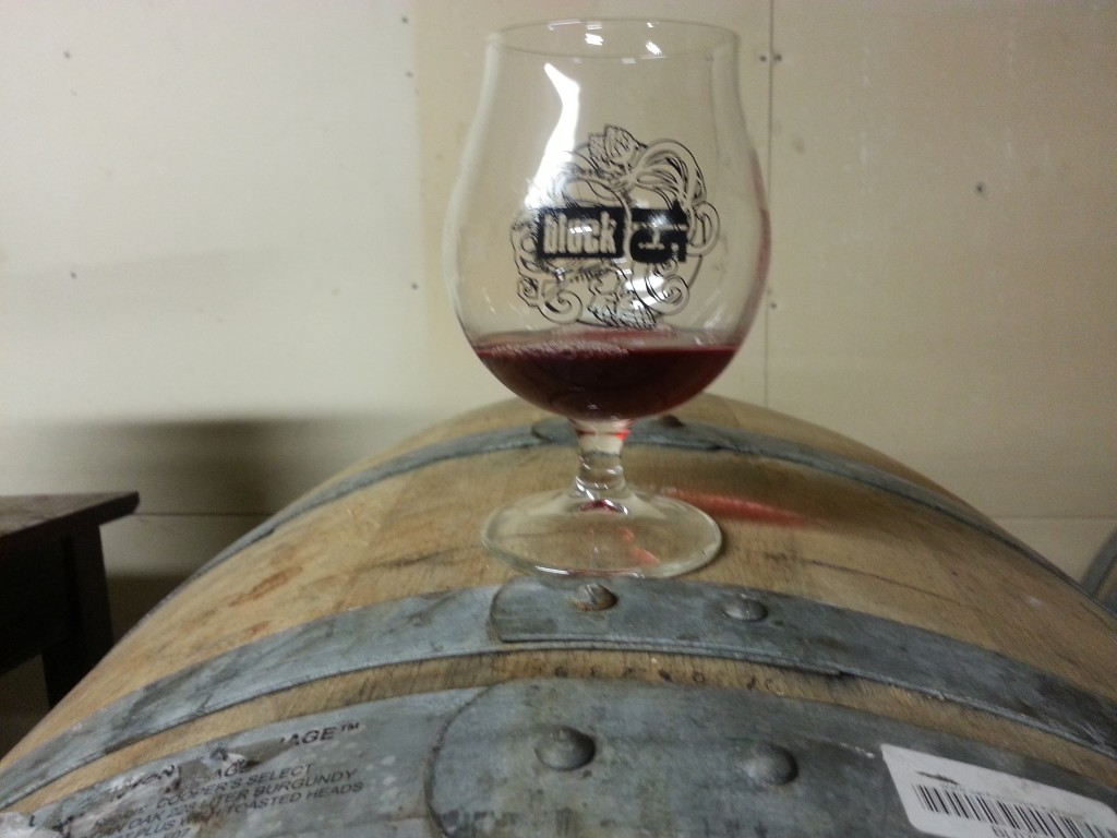 Barrel-aged Block 15 beer