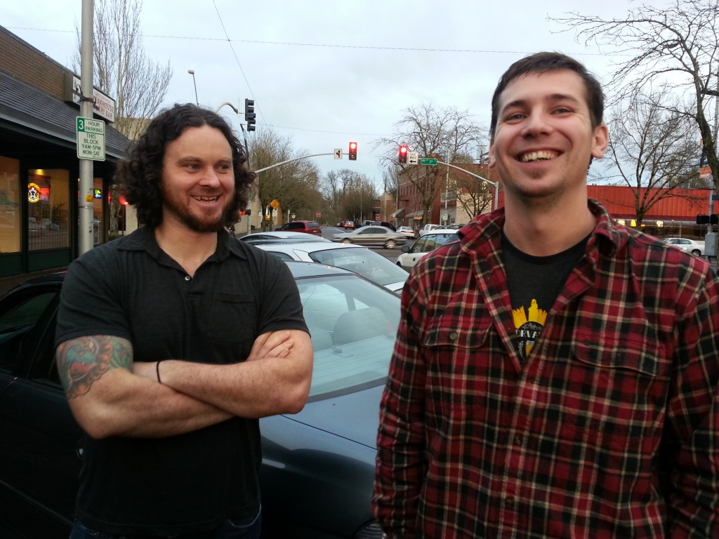 Nick Arzner of Block 15 Brewing (left) and Dave Marliave of Flat Tail Brewing