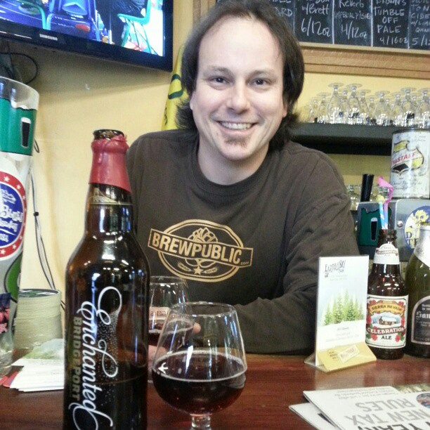 BeerMonger Sean Campbell shares a bottle of BridgePort Enchanted