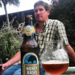 Bison owner and Brewmaster Daniel Del Grande with a pour of Bison Honey Basil Ale