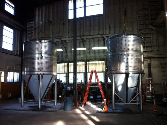Oakshire Brewing's new fermentation tanks