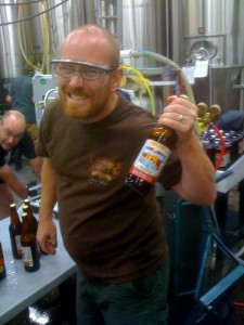 Oakshire owner Jeff Althouse with a Watershed IPA