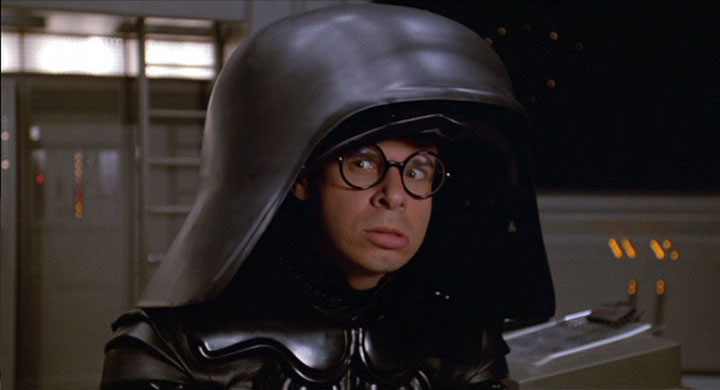 Rick Moranis as Lord Dark Helmet in Spaceballs