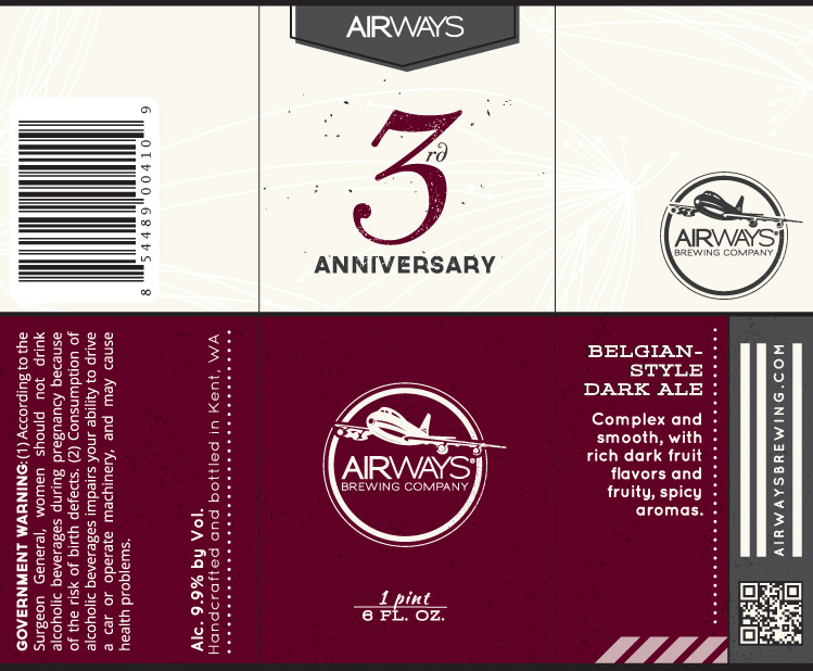 Airways 3rd Anniversary Dark Belgian Ale