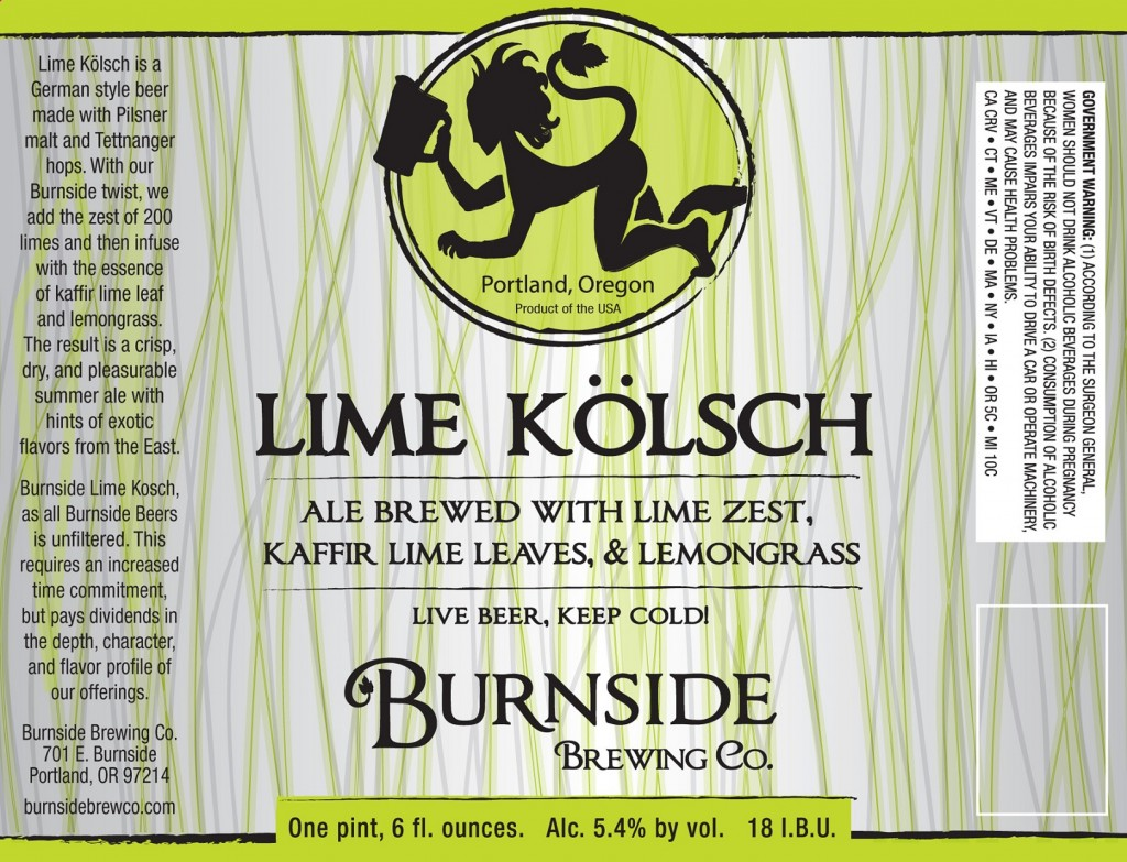 Burnside Brewing Lime Kolsch
