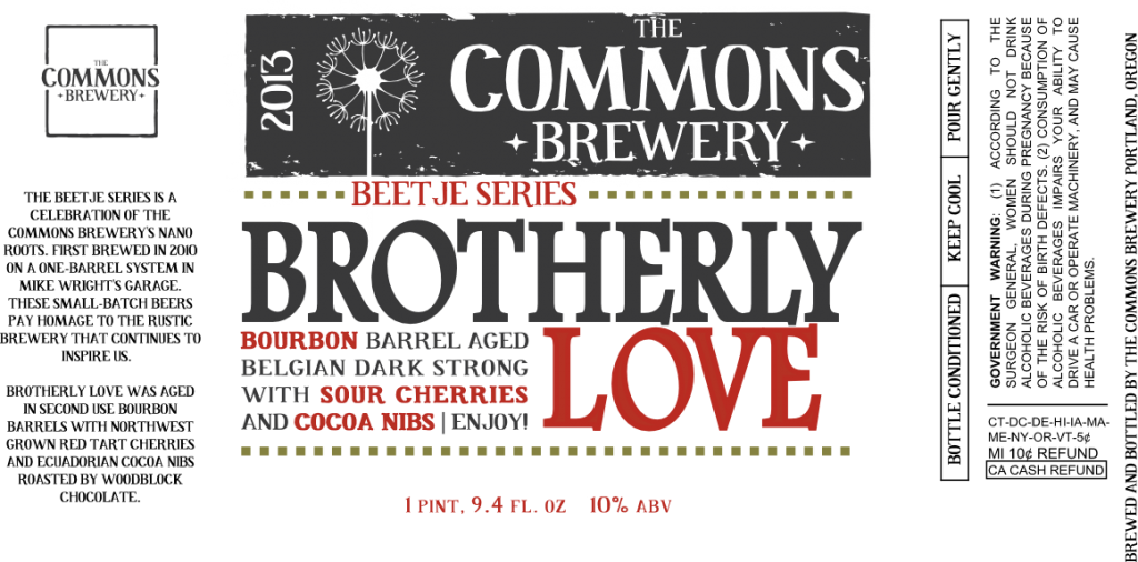 Commons Brotherly Love Label