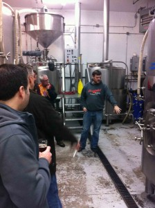 Dan Engler Conducting a Tour at Occidental Brewing