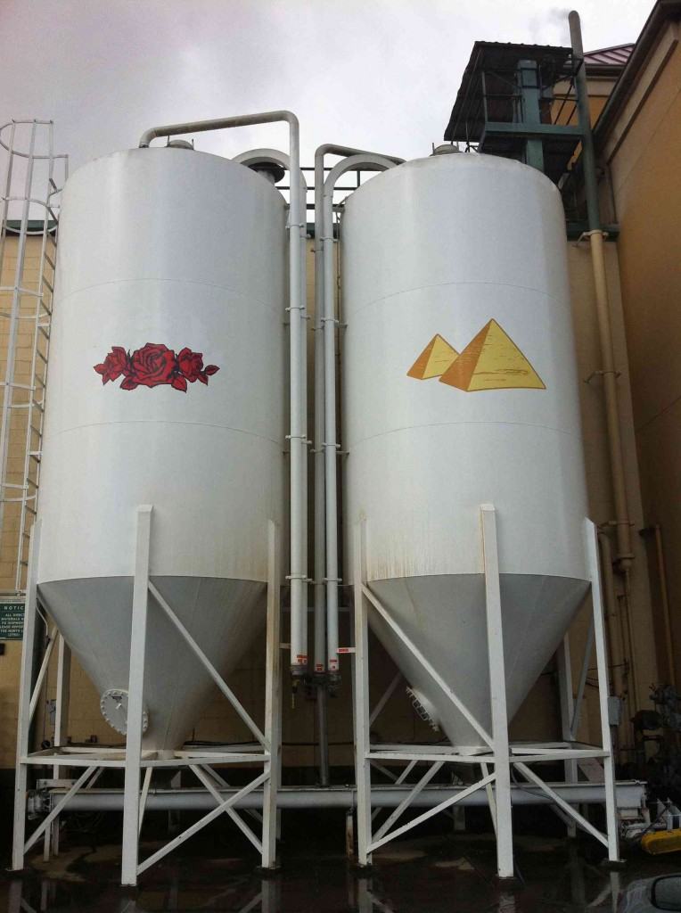 Freshly Painted Silos at Portland Brewing Co.