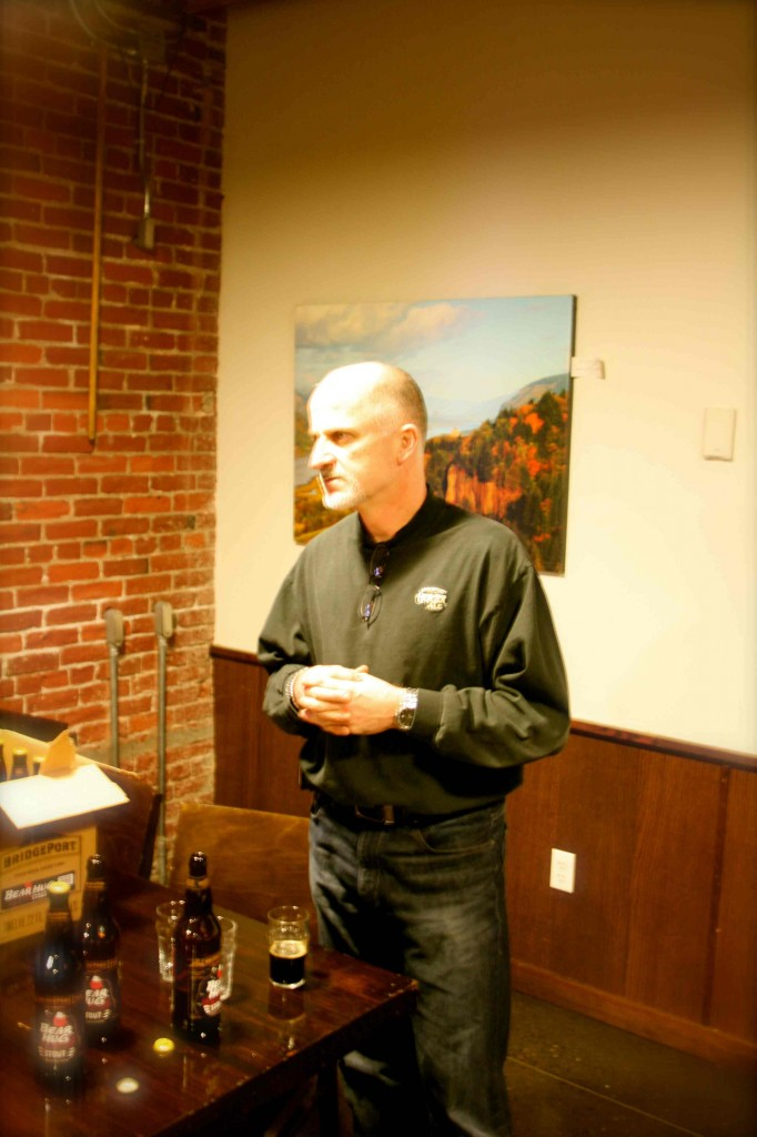 Brewmaster Jeff Edgerton Discussing BridgePort Bear Hug Cherry Chocolate Stout