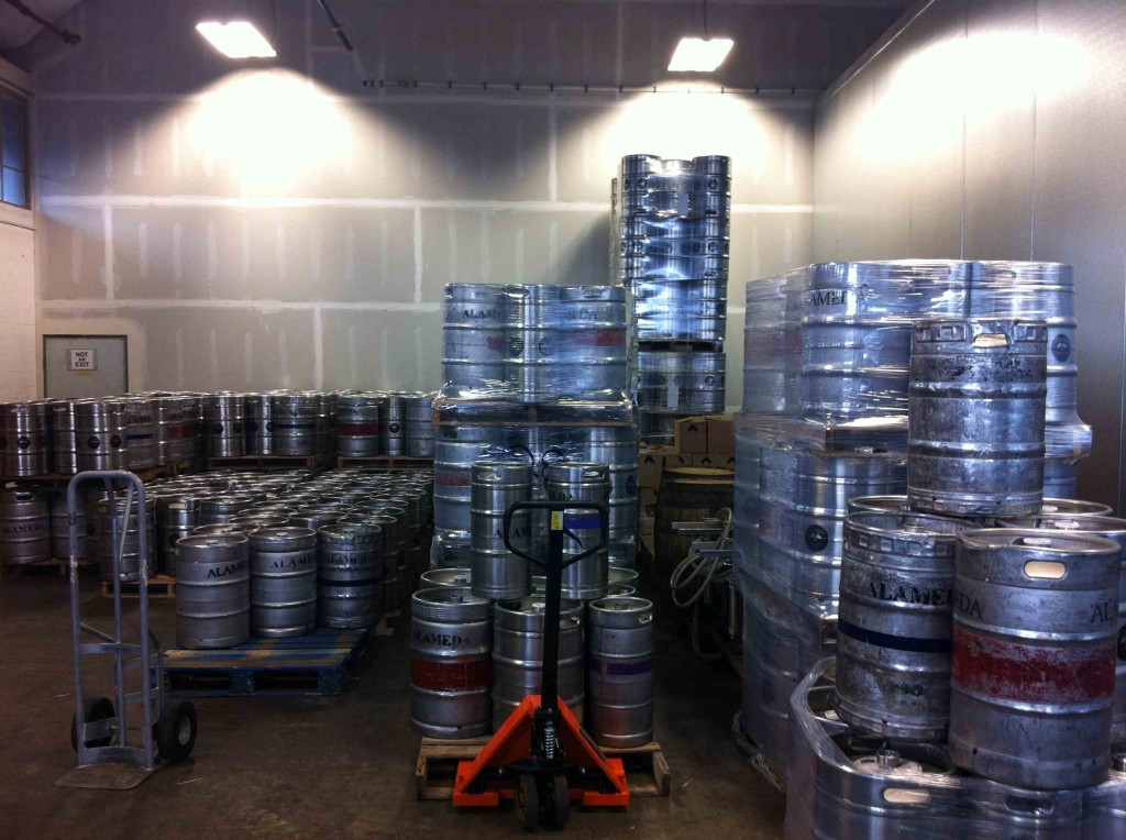 Kegs at Alameda Brewing