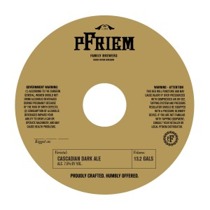 Pfriem Brewing CDA
