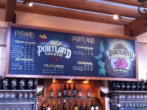 Tap Board at Portland Brewing Co.