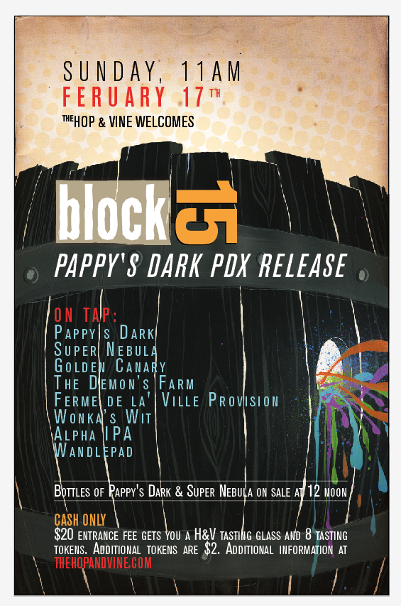 Block 15 Pappy's Dark PDX Release (yeah we see the typo)