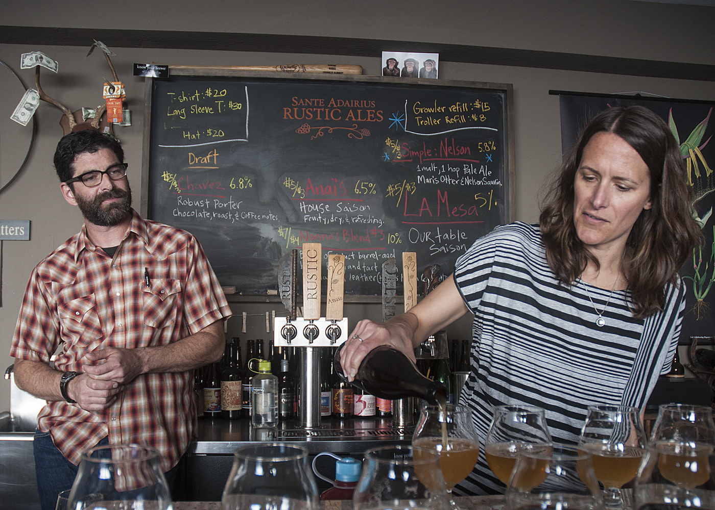 Tim Clifford and Adair Paterno of Sante Adairius Rustic Ales in Capitola, CA