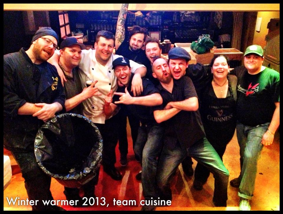Hivernale des Brasseurs Winter Warmer 2013 - Team Cuisine