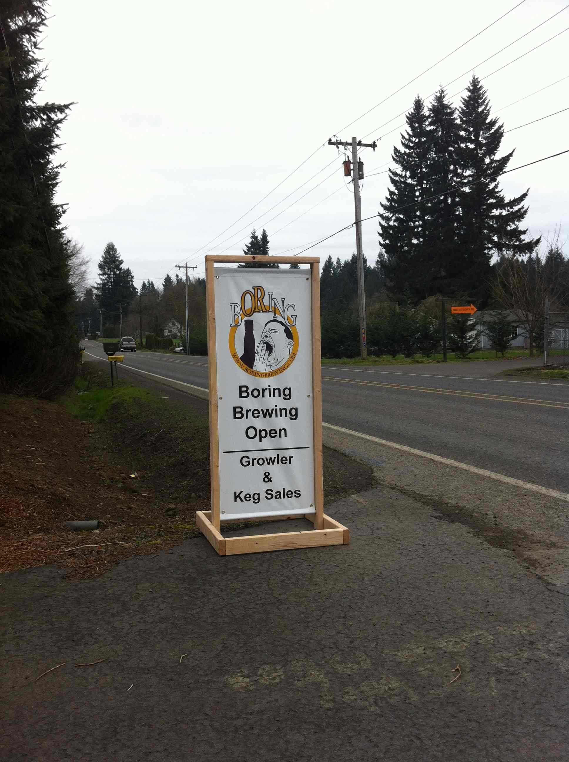 Boring Brewing Co. Entrance Sign