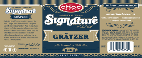 Choc Brewing Signature Gratzer