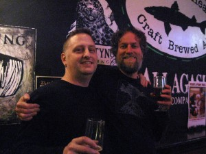 C Baker (right) with friend David at Rattle N Hum