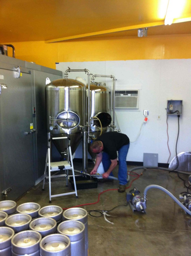 John Doing a Transfer at Boring Brewing