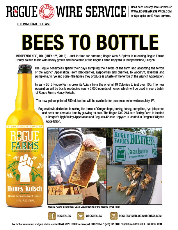 Rogue Bees To Bottles