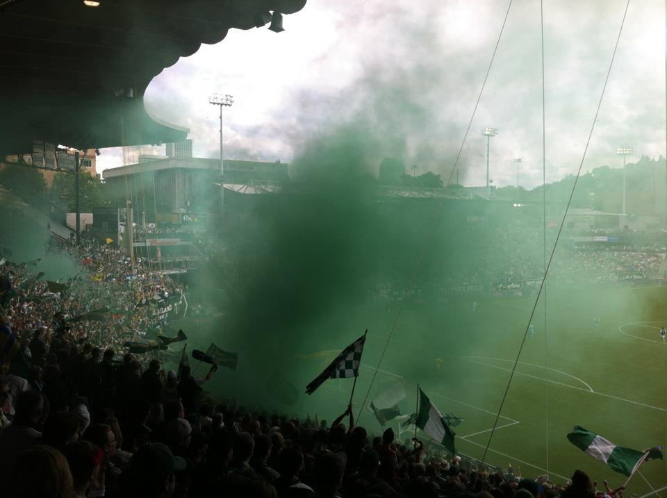 Timbers Army in action