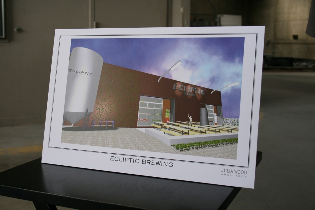 Architect Rendering of Ecliptic Brewing