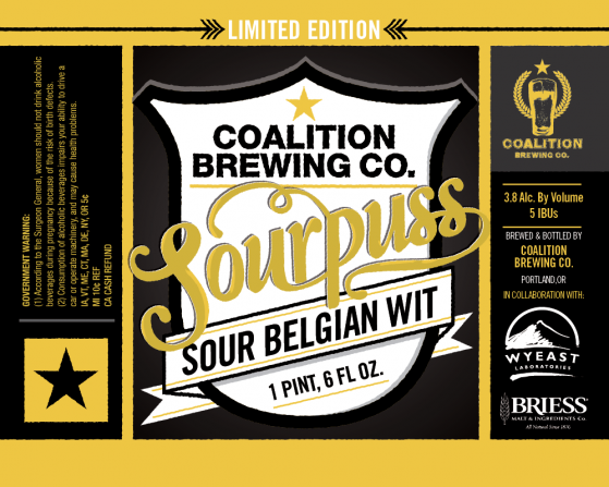 Coalition Brewing Sourpuss Sour Wit