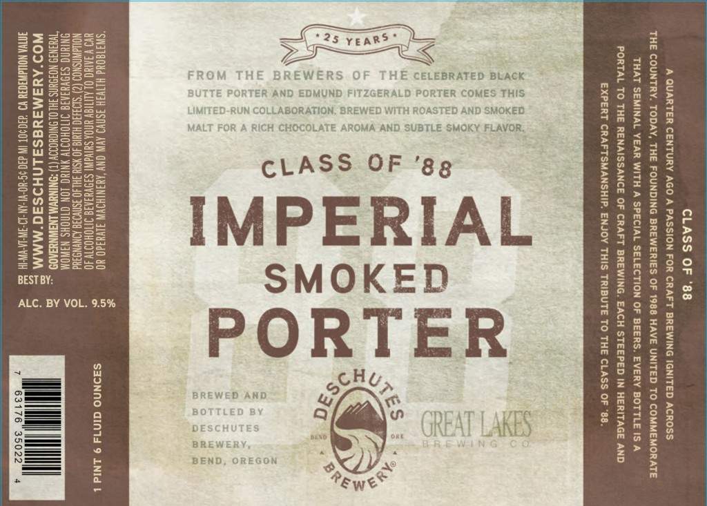 Deschutes and Great Lakes Class of '88 Imperial Smoked Porter