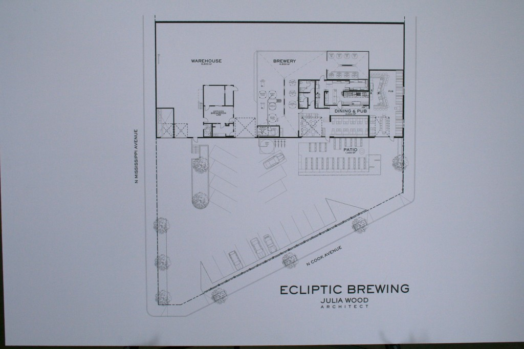 John harris unveils the name of his new brewery ecliptic for Brewery floor plan