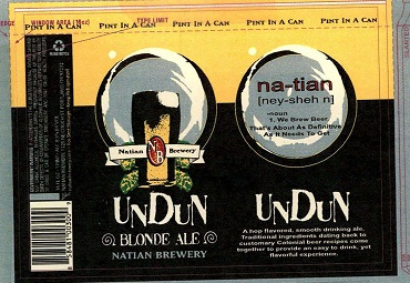 Natian Undun Blonde Ale