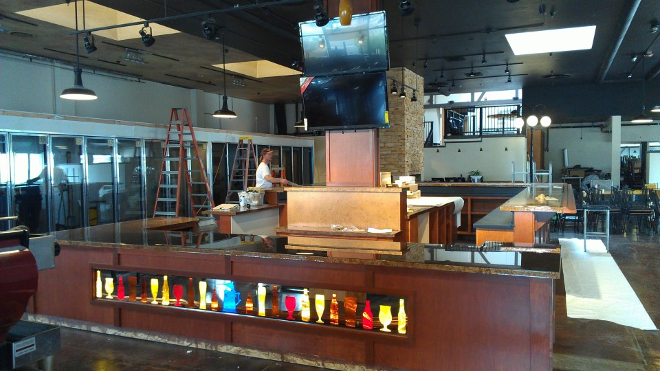 Earlier stages of build-out at new Bier Stein in Eugene, Oregon