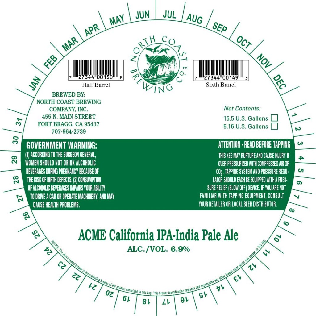North Coast Acme California IPA
