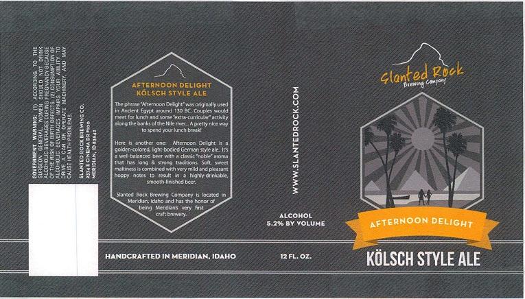 Slanted Rock Afternoon Delight Kolsch Style Ale