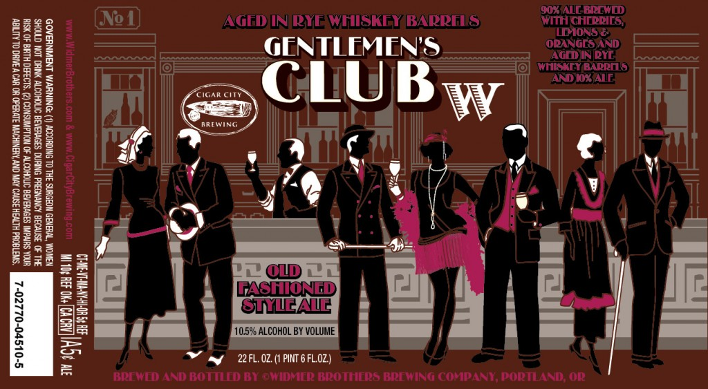 Widmer Brothers & Cigar City Gentlemen's Club on Rye Whiskey Barrels