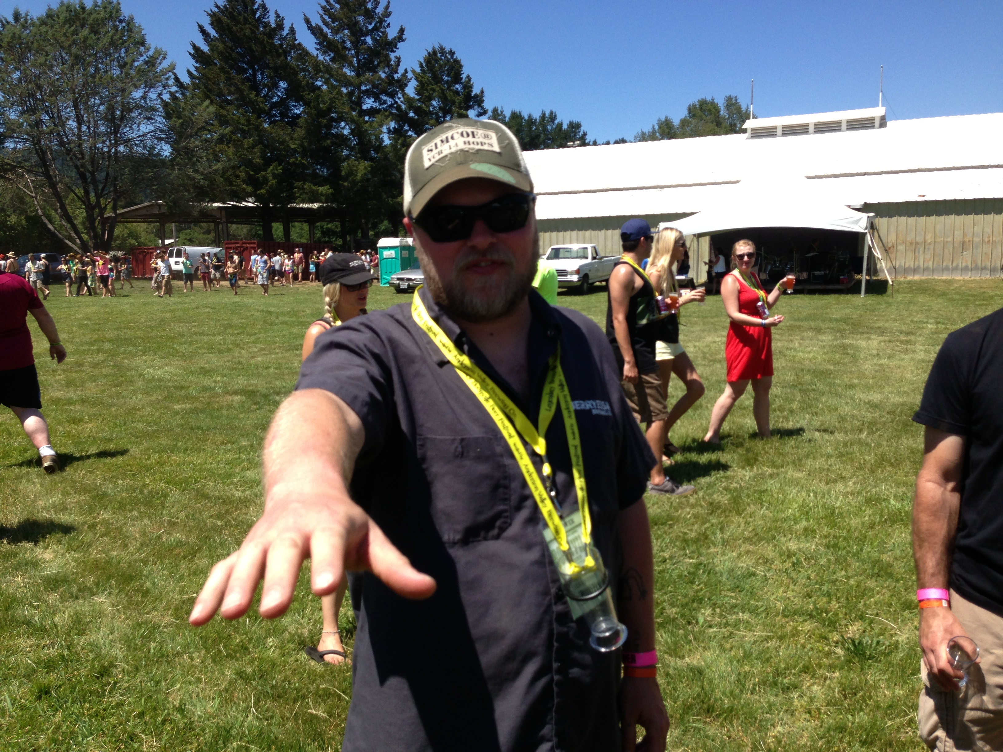 Berryessa founder and brewer Chris Miller feels the good vibes at Boonville Beer Fest 2013