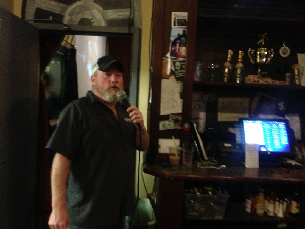Brewer and emcee Don Webb of Naked City Brewing