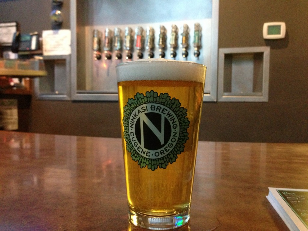 Ninkasi Sterling Pils on tap at the taproom in Eugene, OR