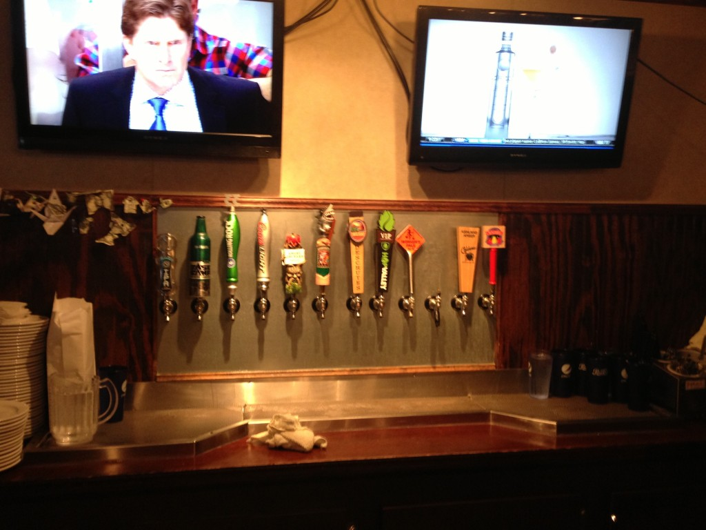 Taps at Northwest Pizza and Pub Company in Ashland, OR