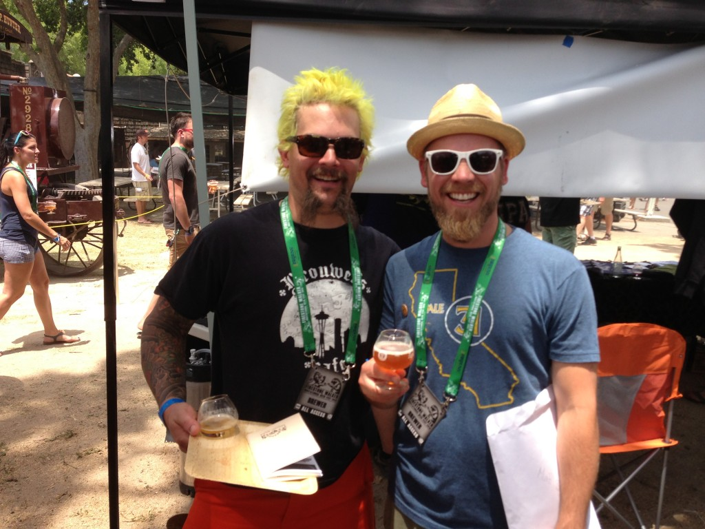 Matt and Matt representing at Firestone Walker Invitational Beer Fest in Paso Robles (L: Bonney of Brouwer's Cafe and Brynildson of Firestone Walker)