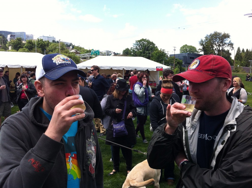 Jim Bonomo and Dan Culver Enjoying Some Cider