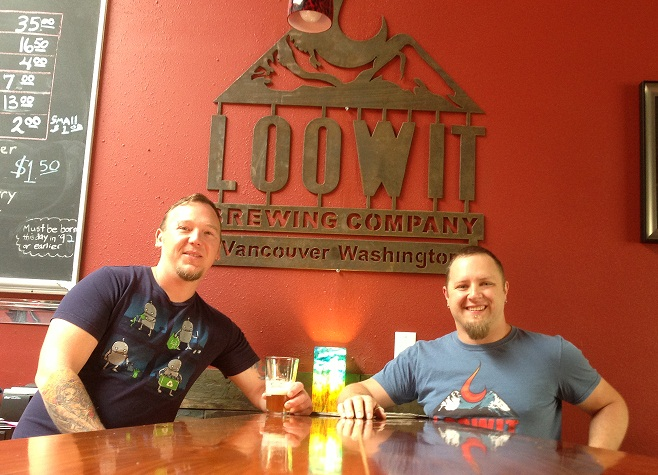 Thomas Poffenroth and Devon Bray of Loowit Brewing