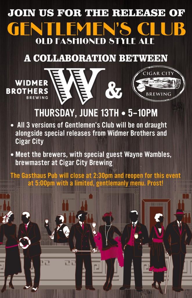 Widmer & Cigar City Gentlemen's Club Release Party