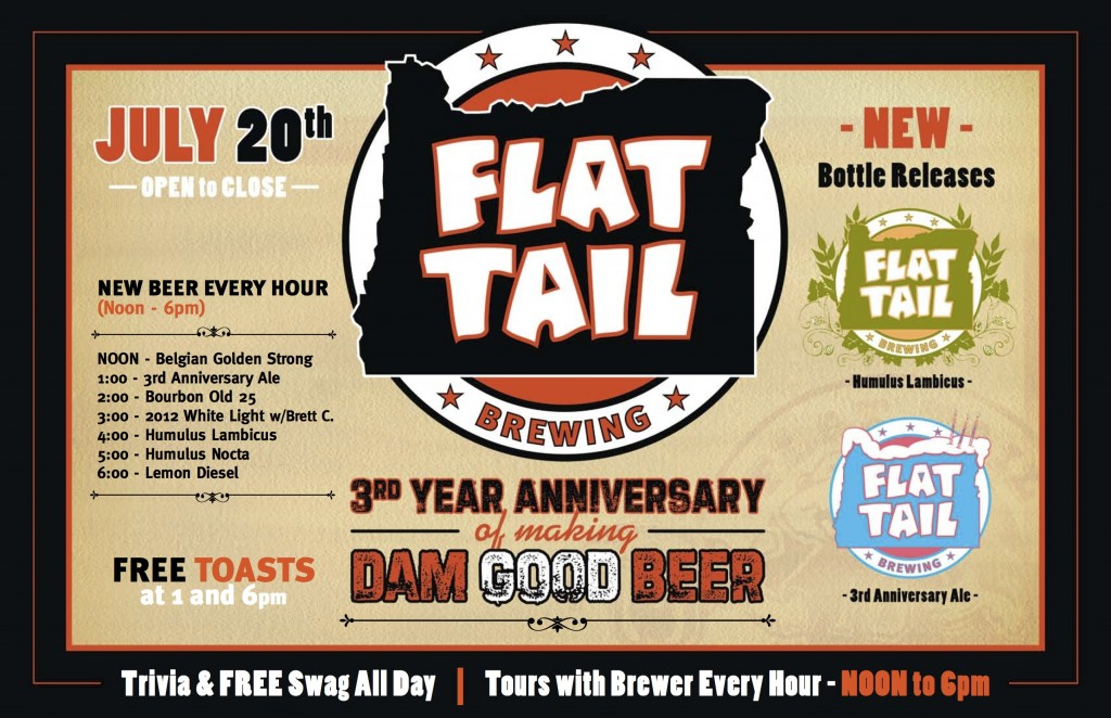 Flat Tail 3rd Year Anniversary