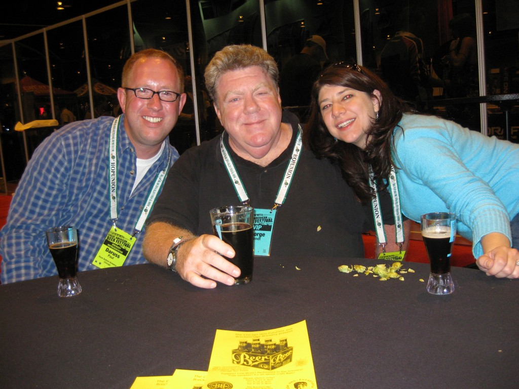 Hangin' With Norm at GABF 2009 (D.J. Paul, George Wendt, Robin Chilton Surratt)