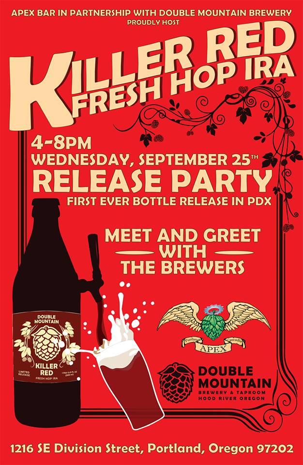 Killer Red Fresh Hop IRA Portland Release