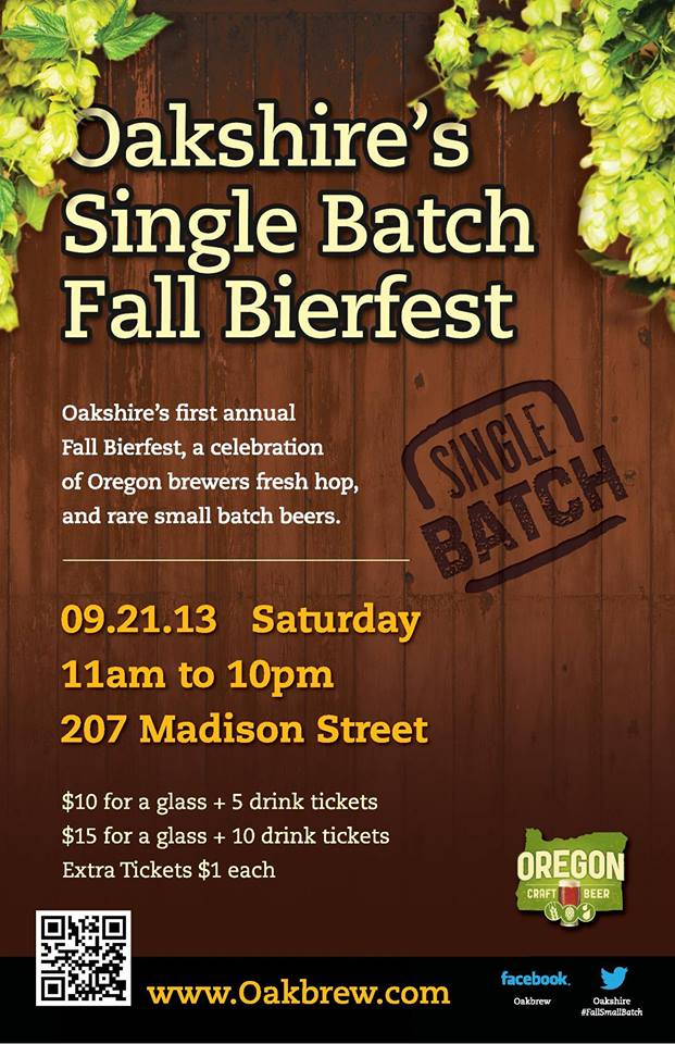 Oakshire's Single Batch Fall Bierfest