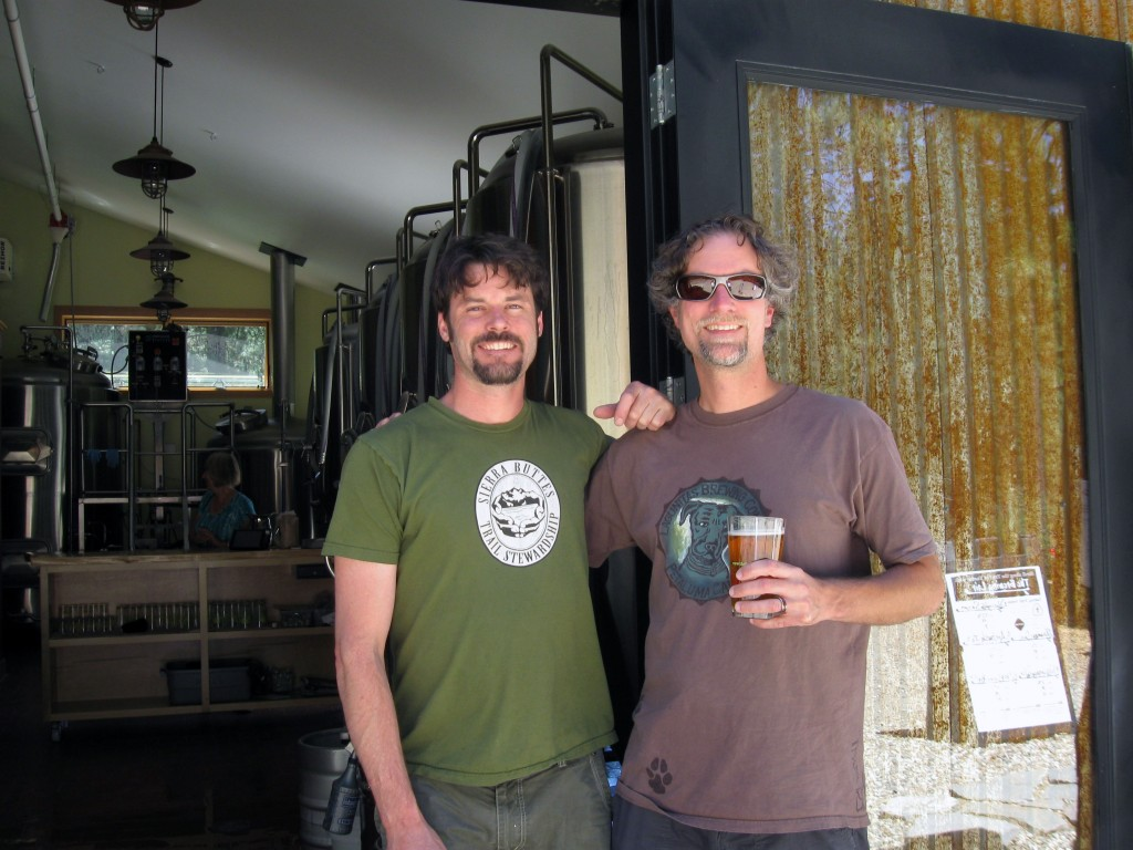 Rich (Brewmaster on left) and C. Baker at The Brewing Lair