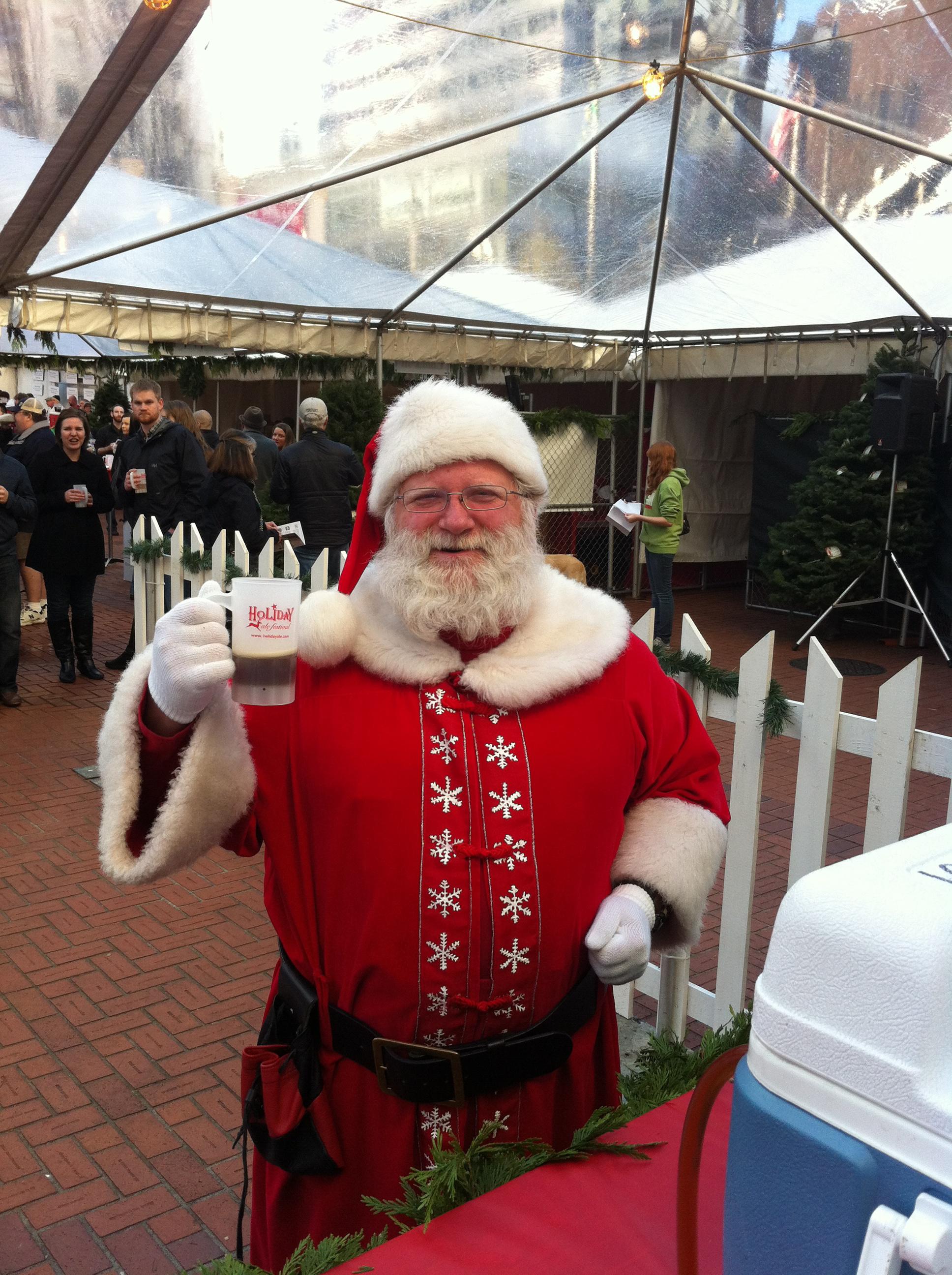 Santa-at-Holiday-Ale-Festival
