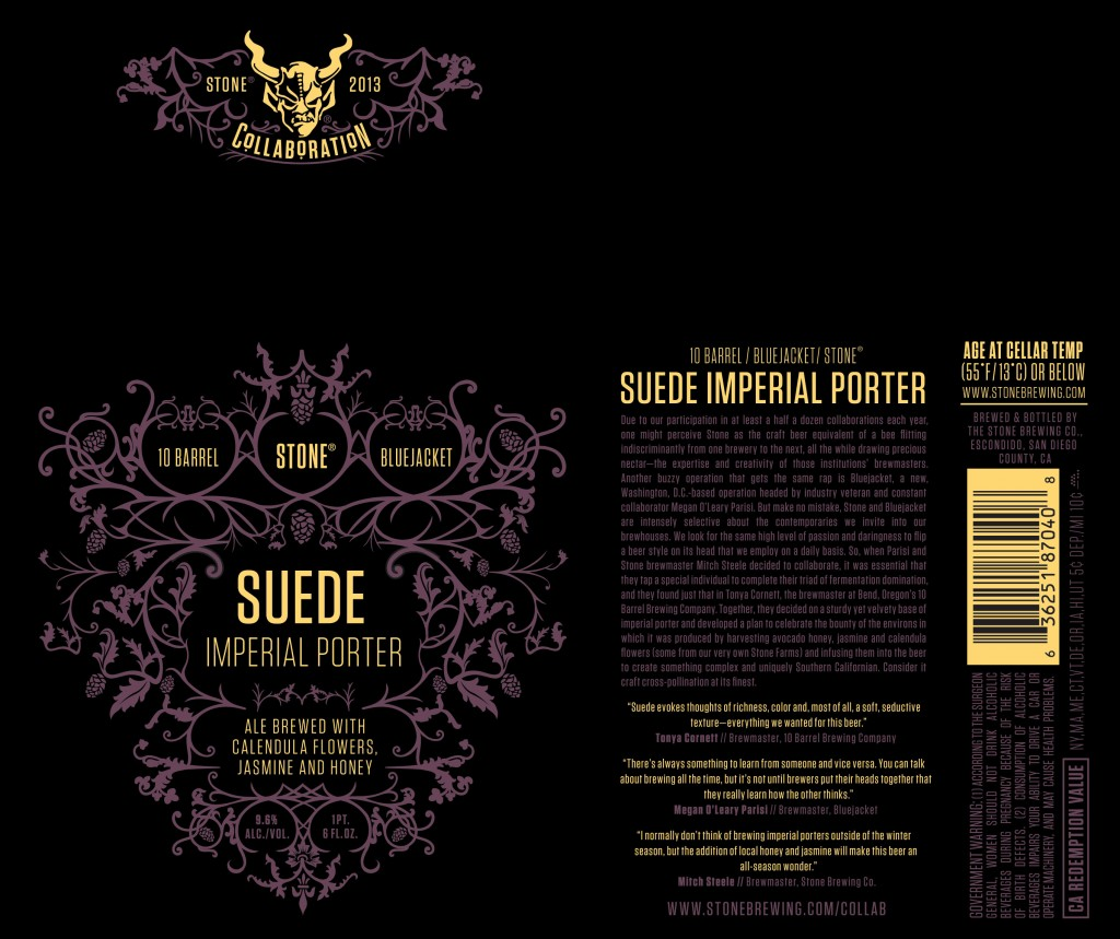 Stone Suede Imperial Porter Label